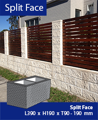 Split face Masonry Block